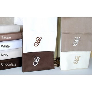 Egyptian Cotton 300 Thread Count Solid Script 'G' Monogram Sheet Set