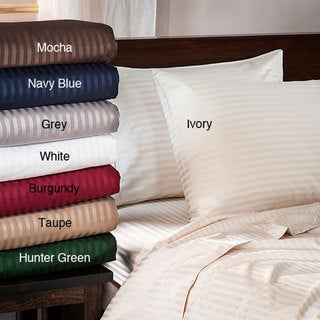 Egyptian Cotton 400 Thread Count Striped Sheet Set