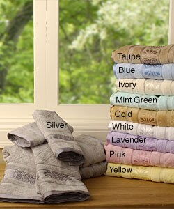 Egyptian Cotton Jacquard 6-piece Towel Set