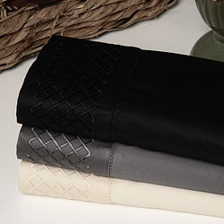 Egyptian Cotton Lattice 500 Thread Count Pillowcases (Set of 2)