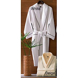 Egyptian Cotton Waffle Terry Bathrobe
