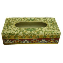 Empress Rectangular Porcelain Tissue Box
