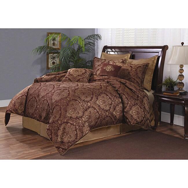 Exeter Plum Queen-size 8-piece Comforter Set