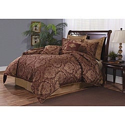 Exeter Plum Queen-size 8-piece Comforter Set
