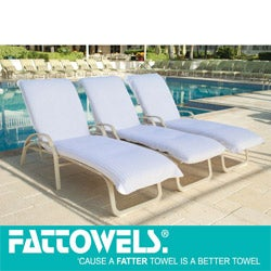 White Beach Towel Chaise Lounge Covers