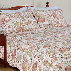 Flowers in Paradise 3-piece Quilt Set