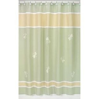 Sweet Jojo Designs Green Dragonfly Dreams Shower Curtain