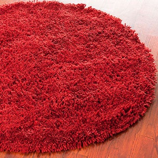 Safavieh Hand-woven Bliss Rusty Red Shag Rug (6' Round)