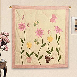 Handcrafted Bee Garden Throw/ Wall Hanging