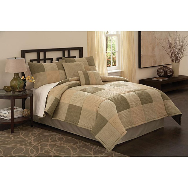 Handcrafted Concentric Squares 8-piece Comforter Set