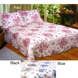 Handcrafted French Country Quilt 3-piece Set