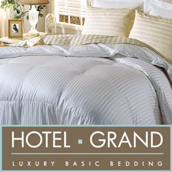 Hotel Grand Silk  400 Thread Count Premium White Goose Down Comforter