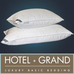Hotel Grand Tencel Check White Down Pillow