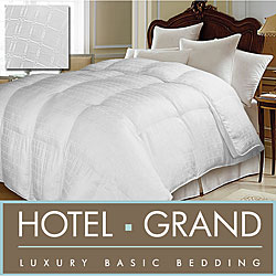 Hotel Grand Tencel Check White Goose Down Comforter