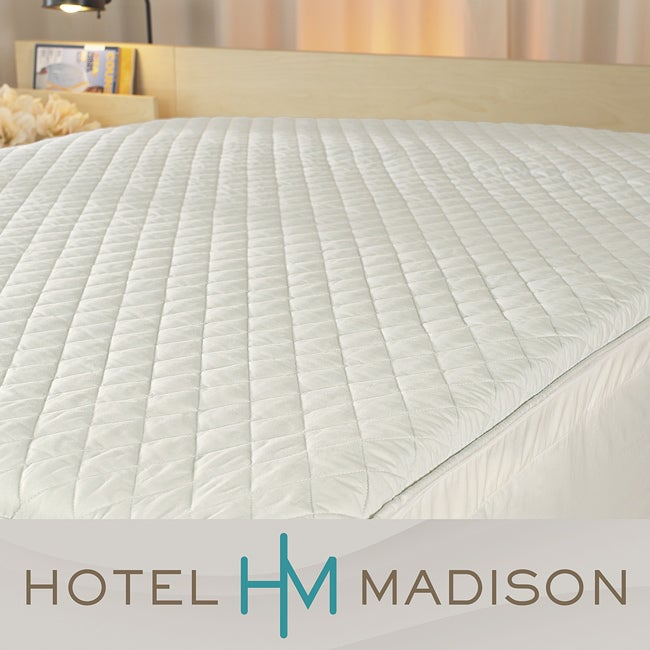 Hotel Madison Plush Comfort Quilted Featherbed or Fiberbed Cover
