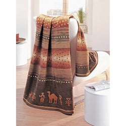IBENA Messina Desert Jacquard Oversize Throw