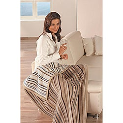 Sorrento Classic Stripe Jacquard Lap Throw
