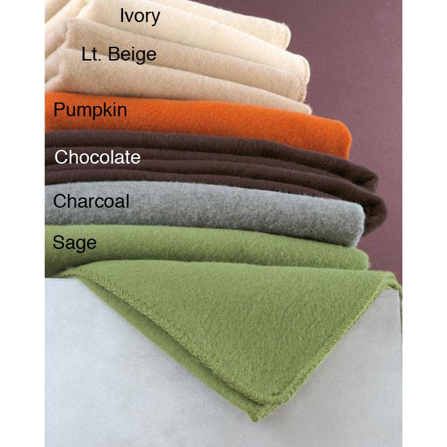 Italian-made Wool Blend Blanket (Twin/Full)