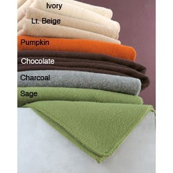 Italian-made Wool Blend Blanket (Twin/Full)