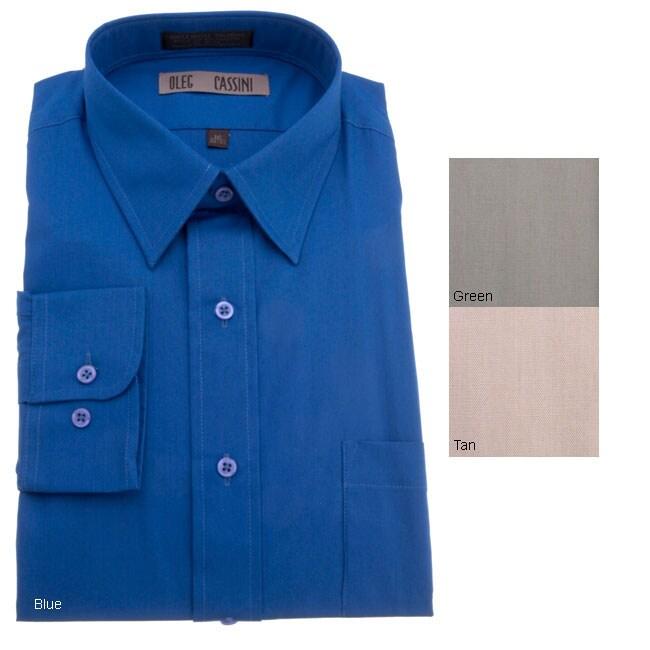 Oleg Cassini Men's Long Sleeve Dress Shirt