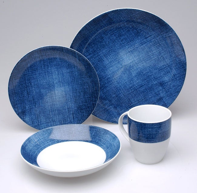 studio nova blue 16 pc dinnerware set 417177