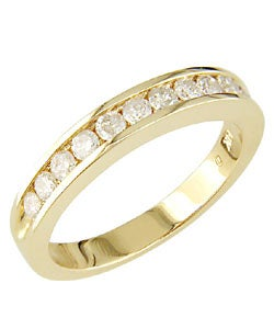 Miadora 14k Yellow Gold 1/2ct TDW Diamond Eternity Band