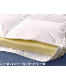 Memory Foamfiber Bed Mattress Topper Twin Extra Long Size