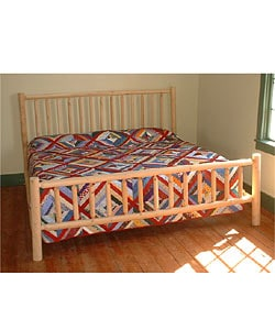 Rustic Log Pole Cedar Adirondack King-size Bed