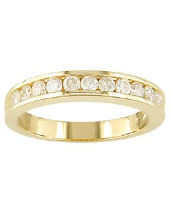Miadora 14k Yellow Gold 1/2ct TDW Diamond Eternity Band (I-J, I1-I2)