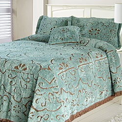 Jessica Slate/ Chocolate Chenille Twin-size Bedspread
