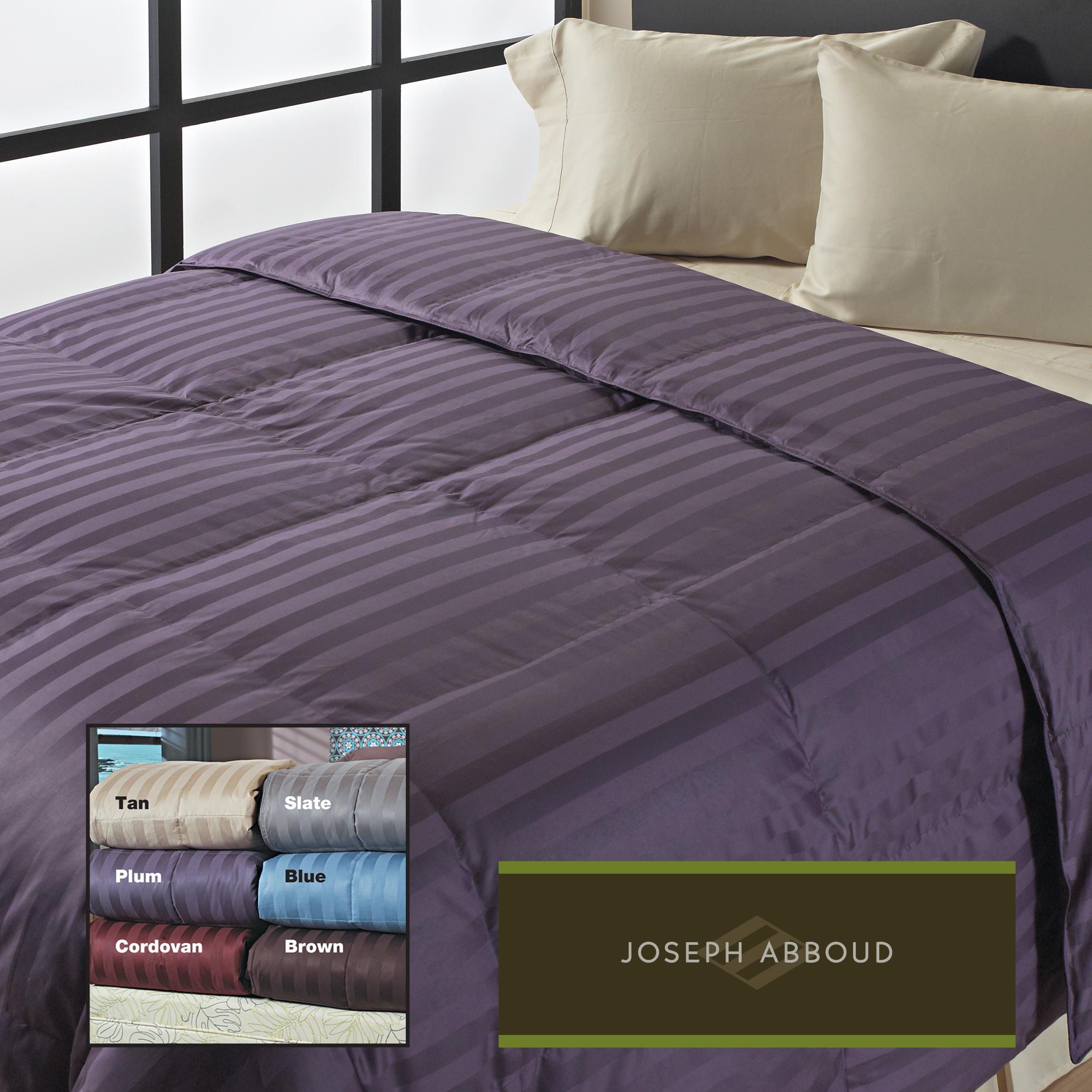 Joseph Abboud Classic Wide Stripe 400 Thread Count Down-Like Comforter