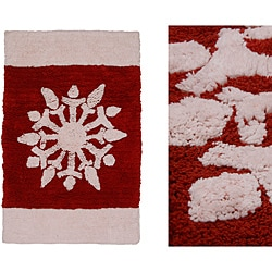 Jovi Home Snowflake Plush 20 x 30 Bath Rug