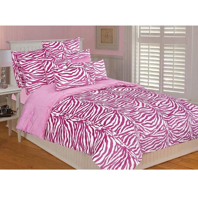kids 39 bedding microluxe pink white zebra comforter set 22582259 pink