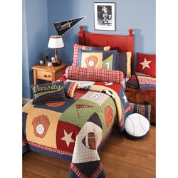 All Sports 3-piece Quilt Set