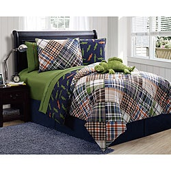 Dinosaur Reversible 4-Piece Full-Size Comforter Set