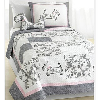 Scottie Pup Quilt Set