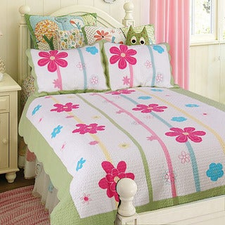 Spring Fling Flower Full/ Queen-size 3-piece Quilt Set