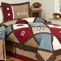 Sweet JoJo Designs Brown/ Blue 4-piece Twin-size Comforter Set