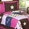 Sweet JoJo Designs Cowgirl 3-piece Girls Queen-size Quilt Set