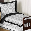Sweet JoJo Designs Grey and Black Zig Zag 5-piece Toddler Bedding Set