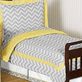 Sweet JoJo Designs Grey and Yellow Zig Zag 5-piece Toddler Bedding Set