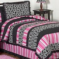 Sweet JoJo Designs Pink/ Black 4-piece Twin-size Comforter Set