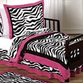 Sweet JoJo Designs Pink, Black and White Funky Zebra Print 5-piece Toddler Girl&#39;s Bedding Set