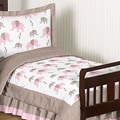 Sweet JoJo Designs Pink Mod Elephant 5-piece Toddler Bedding Set