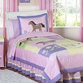 Sweet JoJo Designs Pink/ Purple 4-piece Twin-size Comforter Set
