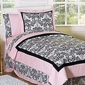 Sweet JoJo Designs Pink and Black Sophia 3-pc Girl&#39;s Full/ Queen-size Bedding Set