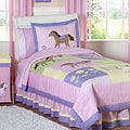 Sweet JoJo Designs Pretty Pony Horse 3-piece Girl's Full/ Queen Bedding Set