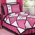 Sweet JoJo Designs Soccer Girl Pink 3-piece Girl&#39;s Full/ Queen-size Bedding Set