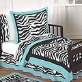 Sweet JoJo Designs Turquoise Funky Zebra 5-piece Toddler Bedding Set