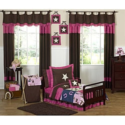 Sweet JoJo Designs Western Horse Cowgirl 5-piece Toddler Girl's Bedding Set